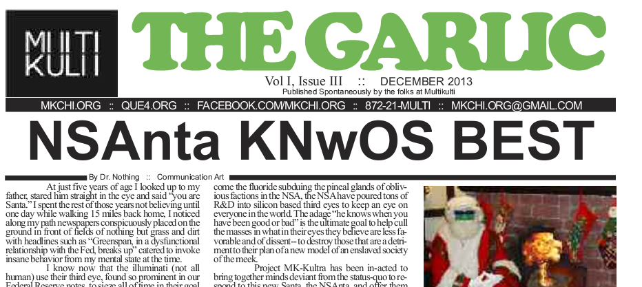Latest Edition of the Garlic Comes Late